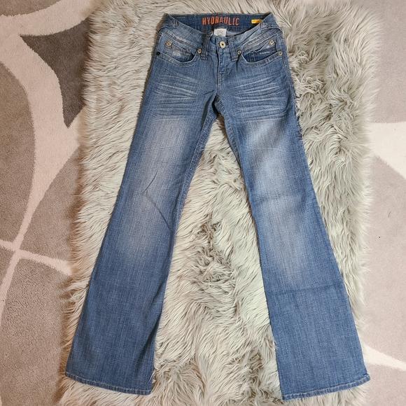 Hydraulic Flare Denim Light Blue Jeans size 1/2